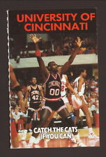 Cincinnati Bearcats--1988-89 Basketball Pocket Schedule--McDonald's