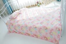 Plush Rug Kawaii Melody Pattern Pink Soft Warm Flannel Blankets Throw Bedding
