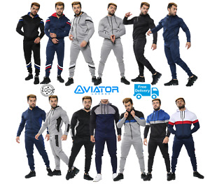 Men's Tracksuit Set Sports Top Bottoms 2 Pcs Sweatshirt Gym Joggers hoody UK