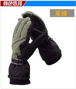 Mens Snowboard gloves Ski gloves Waterproof Windproof Winter thermal warm gloves