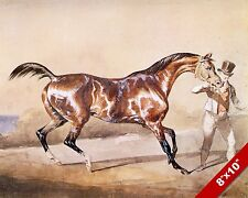 PIEBALD RACE HORSE & OWNER RACING ART PAINTING REAL CANVAS PRINT