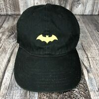 Batman Retro Logo Kids Adjustable Black Yellow Hat Cap One Size Fits Most OSFM