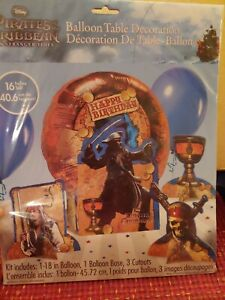 NEW Pirates of the Caribbean Ballooon Table Decoration 5 Pc Kit Party Supplies