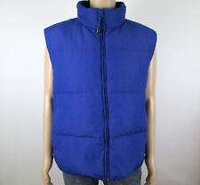 Mens L NWT Consensus Blue Down & Feather Filled Puffer Vest Warm Cozy
