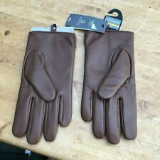 BRAND NEW M & S BROWN LEATHER MENS GLOVES THERMOWARMTH MARKS & SPENCER LARGE L