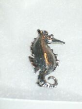 Silver Tone Seahorse Brooch - No Maker'S Mark
