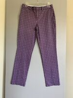 Lands End Womens Pants Size 4P Multicolored Purple Straight Leg