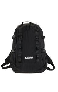 Supreme FW20 Black Cordura Backpack Deadstock New in Original Packaging