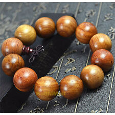Buddha Buddhist Mantra Prayer Burma Rosewood Beads 12mm Bracelet