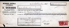 """VIERZON (18) MECANIQUE GENERALE """"Jean ROUSSEL"""" en 1947"""