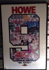 Gordie Howe (Mr. Hockey) Framed Print  Signed By Gordie,Mark,Marty Colleen Howe