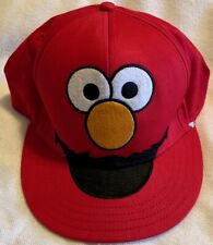 Elmo Hat 123 Sesame Street Red w/ Elmo Face on Front & Brim Fitted Size S/M