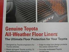 2018 Toyota Camry All Weather Liners