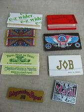 Vtg NOS Lot 8 Assorted France/Spain/USA MaryJ Tobacco Cigarette Rolling Papers