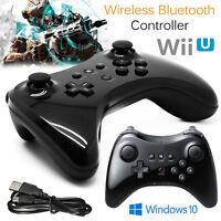 Wireless Bluetooth Nintendo Wii Wii U Joystick Gamepad Pro Controller in Schwarz
