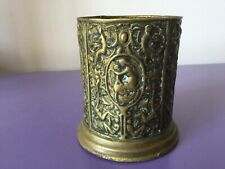 Antique Brass Planter. Plant Pot. Garden. Jardiniere. Pen, Brush Pot. Lined