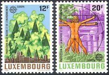 Luxemburgo 1986 Europa/Entorno/coche/Industria/árboles/Bosque/animación 2v n34067
