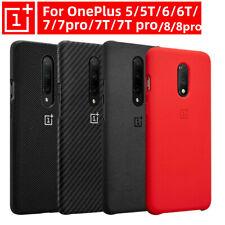 Genuine OnePlus 7 8 Pro 6T 5T 6 5 7T Pro Sandstone Nylon Bumper Back Cover Case