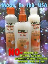 CANTU CARE FOR KIDS Set Shampoo, Conditioner, Detangler No SULFATES, PARABENS,