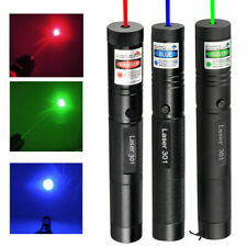 1000 Miles 5mW High Power Green Blue Red Laser Pointer Pen Visible Beam Light Us