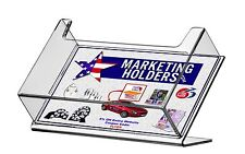 """Slant Back Post Card Holder Stand Display for 6"""" x 4"""" Literature"""