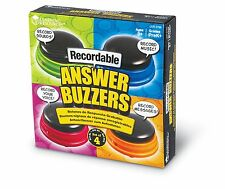 Learning Resources Recordable Answer Buzzers Set of 4, New, Free Shipping