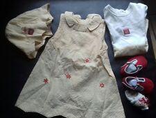 superbe ensemble robe +body +sandales +chapeau +chaussettes  Berlingot 6 mois