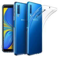 Schutzhülle Silikon - Für Samsung Galaxy A6 A7 A8 A9 A50 A70 - TPU Case - klar