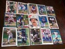 LOT OF 30 MONTREAL EXPOS AUTOGRAPHED SIGNED BASEBALL CARDS LANSING ROJAS OWEN