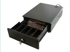 Platzsparende Metall-Kassenschublade mit Kunststoffeinsatz z.B. für Märkte