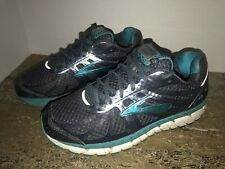 Brooks Ariel 16 Midnight Grey Teal White Athletic Running Shoes Women's Size 8 B
