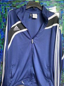 2010 XL Adidas Climacool Track Jacket Navy  Blue 24 X 30