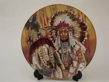 Chief of the Piegon Blackfoot - Native American Indian Collector Plate Franklin