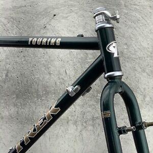 """Vintage Trek 520 Frame Set Touring Steel 53.5cm 21"""" 135mm Mid Fork Made in USA"""