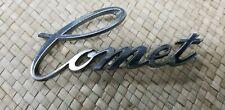 vintage Mercury Comet CAR EMBLEM script metal logo automobilia