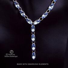 Ypsilon Navette Catena con Swarovski Elements: Zaffiro Azzurro