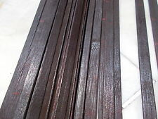 -70 Natural Wooden Wood Plank Pieces dark brown gloss Easy To Cut And Glue #Ak9