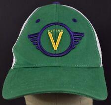 Green Flying V Guitar embroidered trucker hat cap adjustable snapback