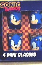 SONIC THE HEDGEHOG 4 COUNT SEGA SHOT GLASS SET NEW IN ORIGINAL BOX