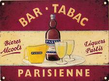Nouveau 30x40cm bar tabac parisienne grand métal publicitaire Mural Signe
