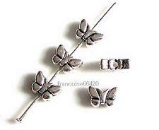 15 Intercalaires spacer Papillon 5.5x8x3mm Perles apprêts création bijoux _ A268