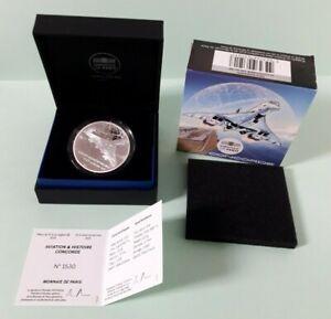 Monnaie de Paris France 10 euro 2019 BE aviation et histoire Concorde rare 3000