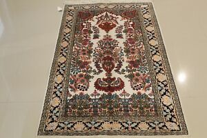 Genuine Hand-Woven Kashmir 3'x5'  SILK RUG ONE OF A KIND TABREEZ  GREAT DEAL!!