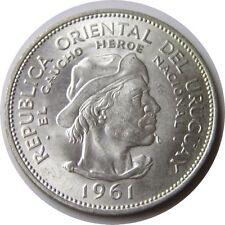 elf Uruguay 10 Pesos 1961 Silver   Gaucho