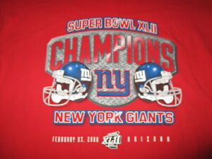 SUPER BOWL XLII NEW YORK GIANTS Champions - Arizona (LG) T-Shirt ELI MANNING