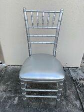 70 Chiavari Wood Chair Silver With 70 Total Seat Cushions