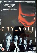 """CRY WOLF"" DVD TOP ZUSTAND UNCUT JARED PADALECKI JON BON JOVI SLASHER THRILLER"