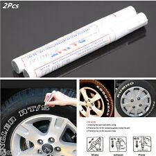 2 Pcs White WATERPROOF Permanent Paint Marker Mark Pen Car Tyre Tire Tread Wheel