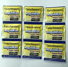 Fleischmann's Rapid Rise Yeast -  (3) 3 Packs Total 9 Individual Pk Exp 02/2022