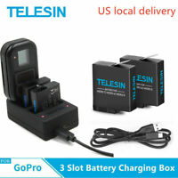 TELESIN For Gopro 5 6 7 Charging 3 Slot Battery Remote Control Charger + Battery